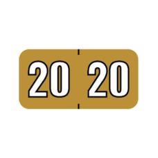 20-POSC | Gold on Black 20 POS Year Labels Size 3/4H x 1-1/2W Laminated 500/Box