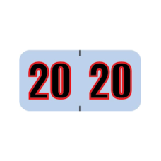 20-POSK | Silver/Black/Red 20 POS Year Labels Size 3/4H x 1-1/2W Vinyl 500/Box