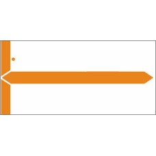 8852 Orange Name Labels, 1-1/2 x 3-1/8, 1,000/pack