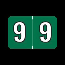 ARNM-9 | Dk Green 9  Amerifile Numeric Labels