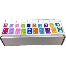 ARNM-SET | Amerifile ARNM Numeric Labels Set 0-9 Includes Organizer Tray
