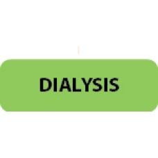 "DIALYSIS - Flo Green / Black, 1-1/2""x 1/2"" 500/roll - 2 roll Minimum"