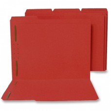 Top Tab 11 Pt. Red 1/3 Cut Reinforced Tab Assorted Positions, Fast 1 & 3, Letter Size, 50/Box