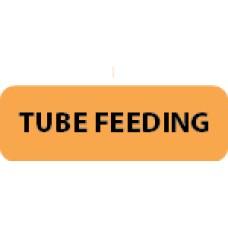 "TUBE FEEDING - Flo Orange / Black, 1-1/2""x 1/2"" 500/roll - 2 roll Minimum"