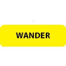 "WANDER - Flo Yellow / Black, 1/2""x1-1/2"" 500/roll - 2 roll Minimum"