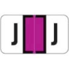 0200-J | Purple J Labels Jeter 0200 Series Size: 15/16H x 1-5/8W, Laminated, 500/Box