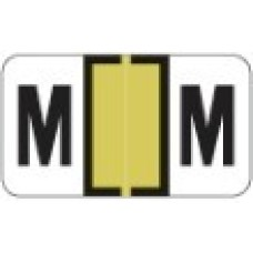 0200-M | Gold M Labels Jeter 0200 Series Size: 15/16H x 1-5/8W, Laminated, 500/Box