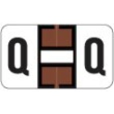 0200-Q | Brown Q Labels Jeter 0200 Series Size: 15/16H x 1-5/8W, Laminated, 500/Box