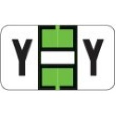 0200-Y | Lime Y Labels Jeter 0200 Series Size: 15/16H x 1-5/8W, Laminated, 500/Box