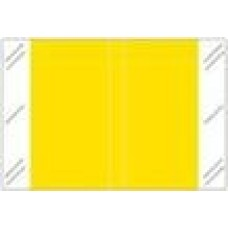 11100-YL | YELLOW Solid Tabbies Color Size 1H x 1-1/2W Laminated 500/Box