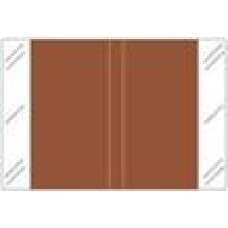 11111-BR | BROWN Solid Tabbies Color Size 1H x 1-1/2W Laminated 500/Box