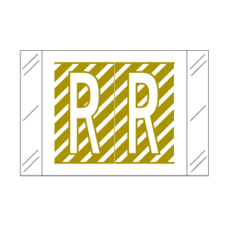 12018-R   Gold R Labels  Tabbies 12000 Series Size: 1 H X 1-1/2W, Laminated, 500/Box