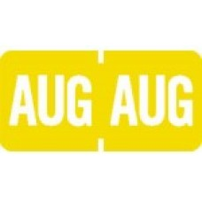1279-08 | August Month Labels Match Tab Products 1279 Size 1/2H x 1W Vinyl 1000/Box