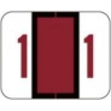 1282-1 | Red #1 Labels Tab Products 1282 Series Size 1H x 1-1/4W 500/box