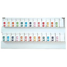1307-50 | Tab Products 1307 Complete Set A-Z Top Tab, 3/4 x 1, Includes Organizer Tray