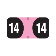 14-AD34 | 2014 Pink & Black Arden Label Year Labels Size 3/4H x 1-1/2W Laminated 500/Box