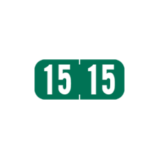 15-1287 | Green 15 Tab Products Year Labels 1287 Size 1/2H x 1-1/8W Vinyl 500/Box