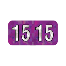 15-HPYM | 2015 Purple Holographic Year Labels  3/4H x 1-1/2W Laminated 500/Box