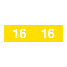 16-AM12 - 2016 Yellow Ames Year Labels