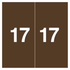 17-AM178 | Brown 13 Labels Ames XAMM Size 1-7/8H x 1-7/8W Laminated 500/Box