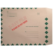17777 | 11 pt. X-ray Mailers Green Border, Self Sealing, Side Loading, 15 x 18, 50/bx, Green Border