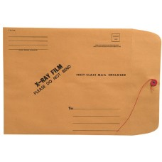 18613 | X-Ray Mailing Envelopes, String & Button, Brown Kraft, 11 x 13, 50/bx