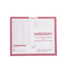 12069 | Mammography, Pink, Category Insert Jackets, Open Top, 250/bx