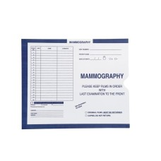 80356 | Mammography, Dark Blue, Category Insert Jackets, Open End, 250/bx