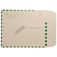 54986 | 11 pt. X-ray Mailers, Side Loading, Green Border, 11H x 13W, 100/bx