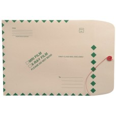 54988 | X-Ray Mailing Envelopes, 11 pt Manila, Green Border, 11 x 13, 100/bx