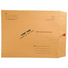 60142 | X-Ray Mailing Envelopes, Brown Kraft, Side Loading, 15 x 18, 100/bx