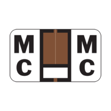 7122-MC | Brown/White MC Jeter 7100 225/Pack Laminated 1-5/8W x 15/16H