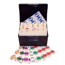 7190-SET   Jeter 7100 Desk Set A-Z Includes Indexes and File Box