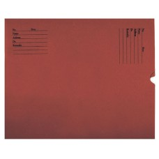 81840 | X-Ray Negative Preservers, 32# Red Kraft, Black Print, Side Loading, 500/bx