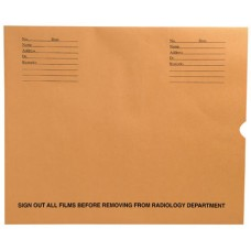 84734 | X-Ray Negative Preservers, Brown Kraft, Black Print, Side Loading, 500/bx