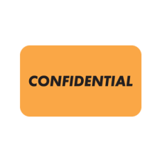 A1013 - CONFIDENTIAL - Fluorescent Orange with Bk Print