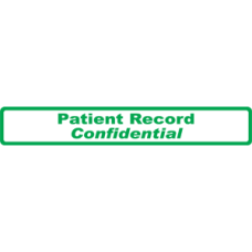 A1020 - PATIENT RECORD - White Label with Green Print