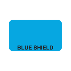 A1030 - BLUE SHIELD - Light Blude Label with Black Print
