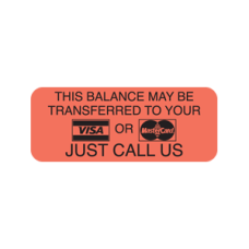 A1033 - THIS BALANCE - Fluorescent Red with Black Print