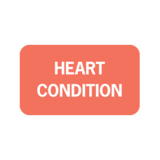 ARD1328 - HEART CONDITION -  Fluorescent Red/Bk Print