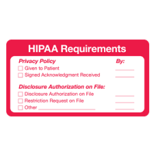 ARD3224 - HIPAA REQUIREMENTS - Red With White Font