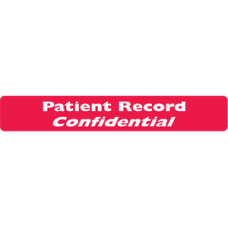 ARD3901 - PATIENT RECORD - Red Label With White Print