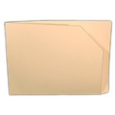 BO-912D | 11pt Manila, Letter Size Single-Ply End Tab Pocket Folder w/ Diagonal Cut