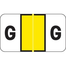 Dk. Yellow G Control-O-Fax Alpha Label 225/Pack Laminated 1-5/8W x 15/16H