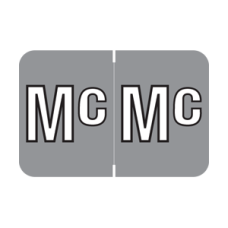 CJTA-MC | Grey Mc Colwell Jewel Tone Size 1H x 1-1/2W Laminated 500/Box