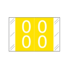 11200-00 | Yellow #00-09 Tabbies 11200 Double Digits 1H x 1-1/2W Laminated 500/Box