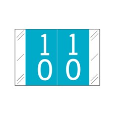 11200-10 | Blue #10-19 Tabbies 11200 Double Digits 1H x 1-1/2W Laminated 500/Box