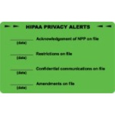 D1008 - HIPAA PRIVACY ALERTS - Fluorescent Green/Bk