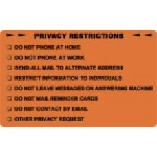 D1009 - PRIVACY RESTRICTIONS - Fluorescent Orange/Bk