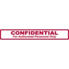 D1019 - CONFIDENTIAL FOR AUTH - White with Red Print